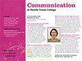 PUC Communication Department Card