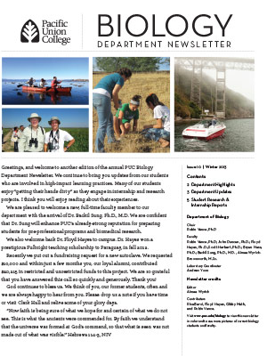 Biology Newsletter - Winter 2013