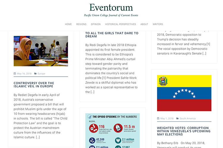 Rational & Reflective: Students Produce Online Current Events Journal