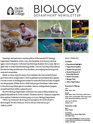 Biology Newsletter - Winter 2012