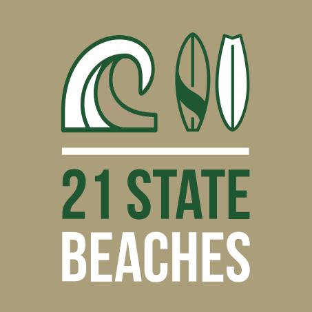 21 state beaches