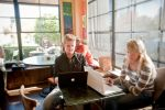Studying in Downtown St. Helena at Napa Valley Roasting Company