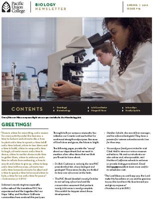 Biology Newsletter - Spring 2018