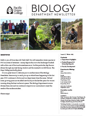Biology Newsletter - Winter 2015