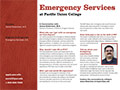 PUC Emergency Services Department Card