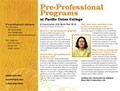 PUC Pre-professional Programs Card